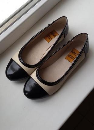 Туфли женские натуральная кожа на низком ходу