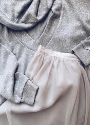 Тюлевая юбка пачка zara жемчужный цвет