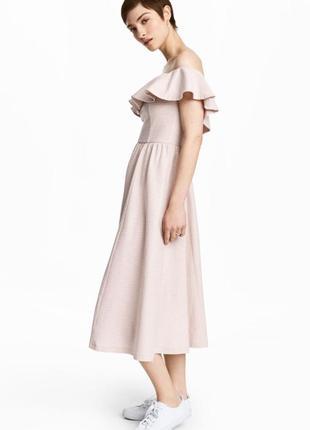 Платье с воланом h&m,p.s-m