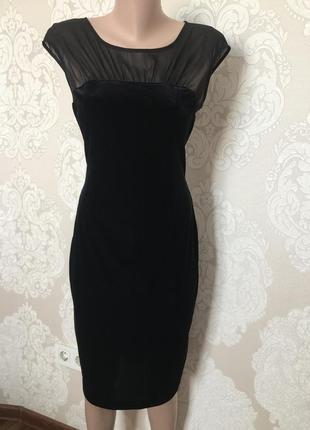 Шикарное бархатное платье миди