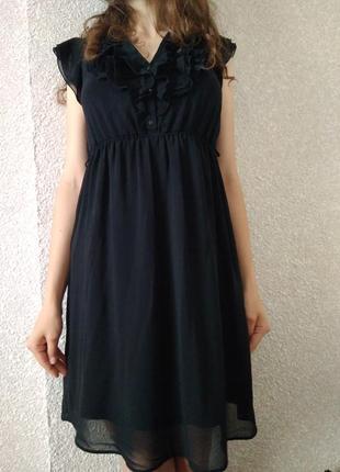 Базове чёрное платье zara