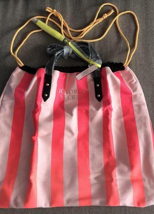 Пляжная сумка мешок victoria secret оригинал !
