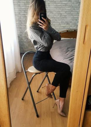 Сорочка жіноча гусячі лапки на довгий рукав