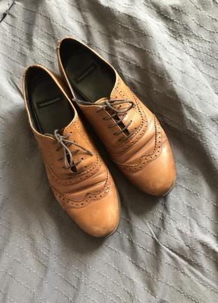 Туфли оксворды натуральная кожа