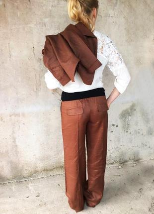 Льняные брюки tagomama для беременных (eur 34/36/42 ) !по 590грн !брюки+пиджак= 1000грн!