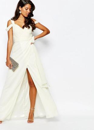 Распродажа! роскошное платье forever unique цвета айвори