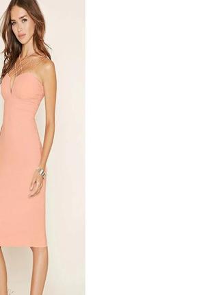 Распродажа! персиковое платье rare london