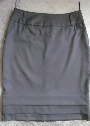 Юбка черная в деловом стиле