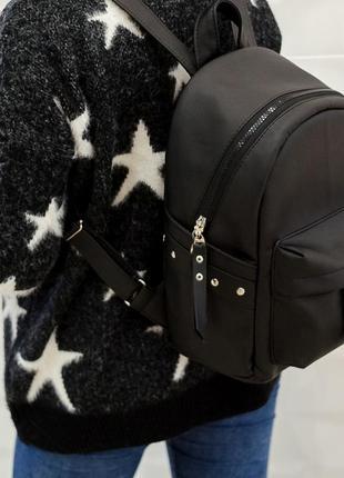 Эксклюзивный большой женский рюкзак чёрный новинка