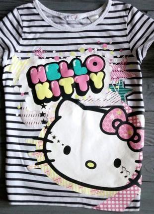 Полосатая футболка hello kitty от h&m
