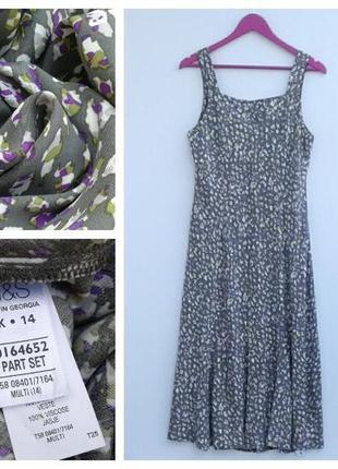 Платье миди летнее платье вискоза платье на бретелях