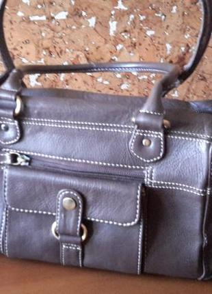 Элегантная повседневная сумка 100%кожа