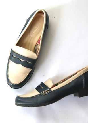 Кожаные туфли-мокасины hotter. англия