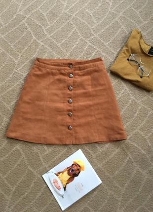 Актуальная юбка на пуговицах