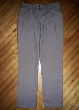 Зауженные брюки с манжетами от topshop! p.-38