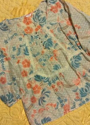 Лёгкая блуза хлопок с шёлком