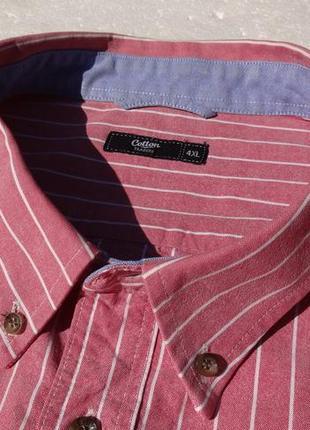 Cotton traders. джинсовая рубашка 4xl с длинным рукавом.