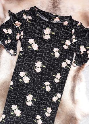 Плаття в розочки з красивим рукавчиком dorothy perkins