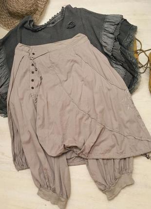 Юбка брюки классическое бохо оверсайз м-л-хл