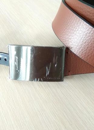 Кожаный мужской ремень фирменный calvin klein бренд оригинал сша
