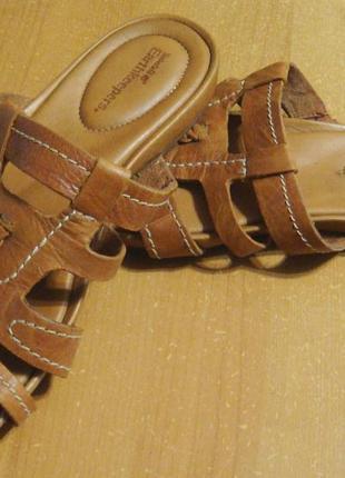 Новые оригинальные кожаные босоножки шлепанцы timberland