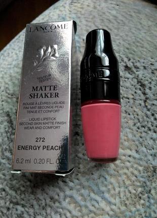 Матовая помада lancome matte shaker 272 energy peach