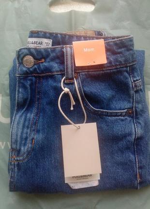 Mom jeans с высокой талией pull&bear