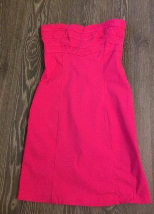 Короткое летнее розовое платье