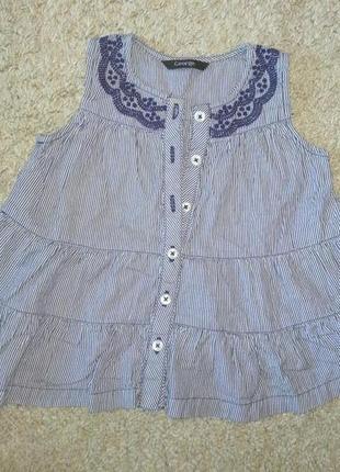 Котоновое платье с вышивкой