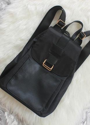 Городской рюкзак с утяжками и металлическими пряжками мешок сумка портфель