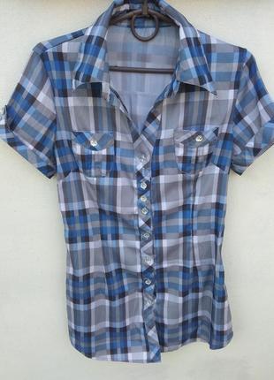 Красивая рубашка туника в клеточку