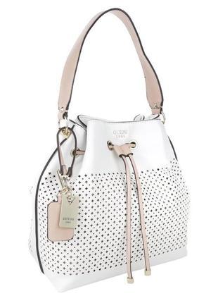 Белая сумка мешок кроссбоди guess оригинал