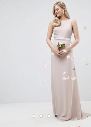 Нежное платье на высокую девушку от tfnc london