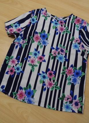 Фактурная блуза atmosphere в принт цветы