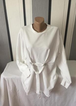 Белый свитшот свитер 16/18 размер