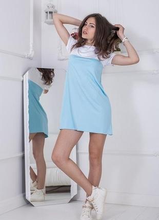 Лаконичное летнее платье трапеция 7 вариаций цвета от рр40 по рр46 ... 14ce092678e