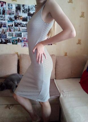 Полосатое платье bershka