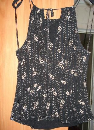 Шикарная блузка, блуза, кофта натуральный 100 % шелк р.10-12 principles petite4 фото