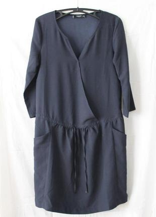 Темно-синее платье mango