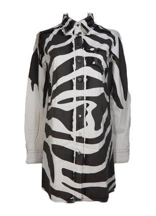 Pierre balmain denim длинная  рубашка джинсовая куртка туника деним оригинал  балмейн