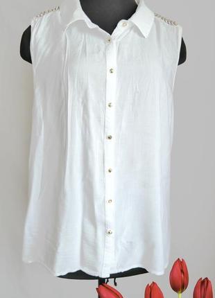 Вискозная рубашка блуза с вышивкой fb sister