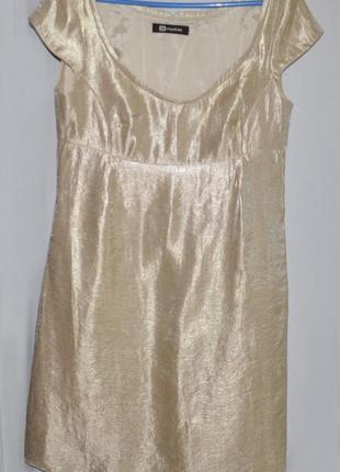 Золотистое платье, коктейльное платье