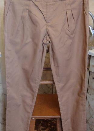 Штаны брюки светло-коричневые vila сlothes s 80%полиэстер, 20%район