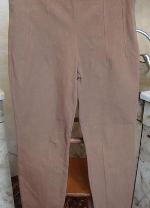 Штаны брюки коричневые marccain s/m 69%котон, 24%нейлон-полиамид, 7%эластан
