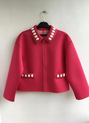 Пиджак из неопрена love moschino. оригинал