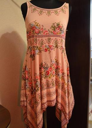 Платье-туника каскадная ( пляжная)1