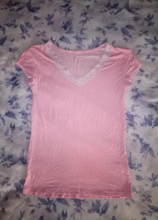 Розовая футболка love to lounge
