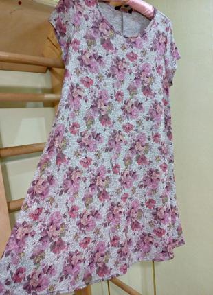 Трикотажное платье трапеция 142