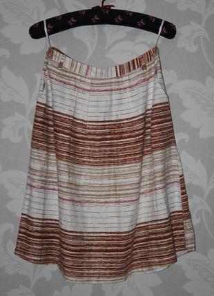 Шикарная льняная юбка next с карманами