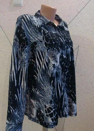 Красивая блуза рубашка. размер 16-18